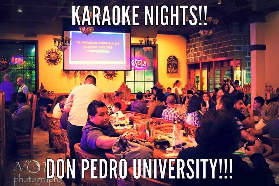 Karaoke nights at Don Pedro Mexican Restaurant near Charlotte University
