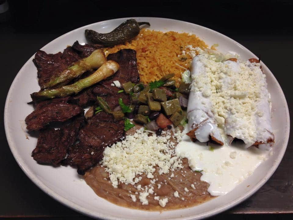 Fiesta Jalisco Skirt Steak, Flautas by Don Pedro Restaurant Charlotte